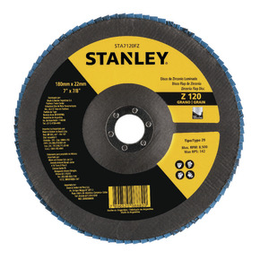 "Product Image of Flap DISC 7 ""recordar 7/8"" (180 recordar 22,23 mm) GRANO 120"