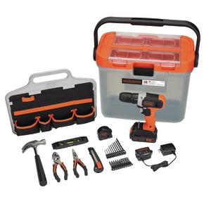 Product Image of Kit para proyectos de hogar con taladro inalámbrico de 20V + 28 accesorios
