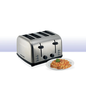 Product Image of 4 Slice Parallel Slot SS Toaster with Dual Control