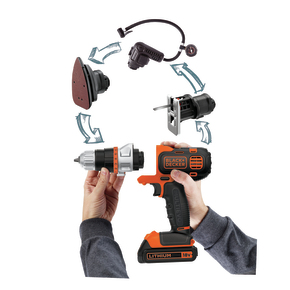Product Image of 18V锂电 EVO可换头工具(4头,电钻,砂光机,曲线锯,充气泵)