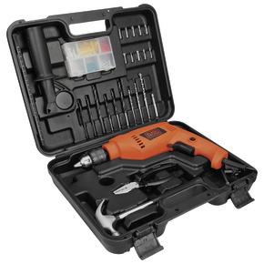 "Product Image of KIT FURADEIRA DE IMPACTO 1/2"" 550W VVR 220V C/ 82 ACESSORIOS"