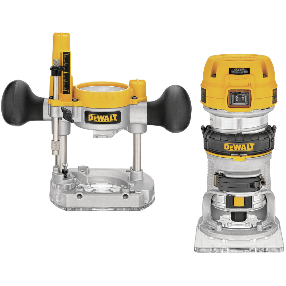"900W 8mm ( 1/4"" ) Premium Plunge & Fixed Base Router Combination D26204K-QS Image"