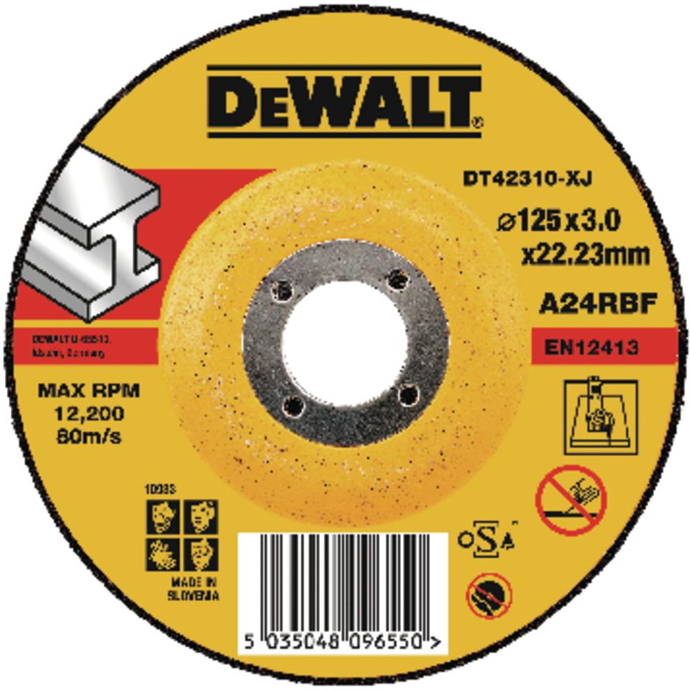 Metal Cutting Wheel HP 125 x 3 x 22.3mm Type 42 DT42310-XJ Image