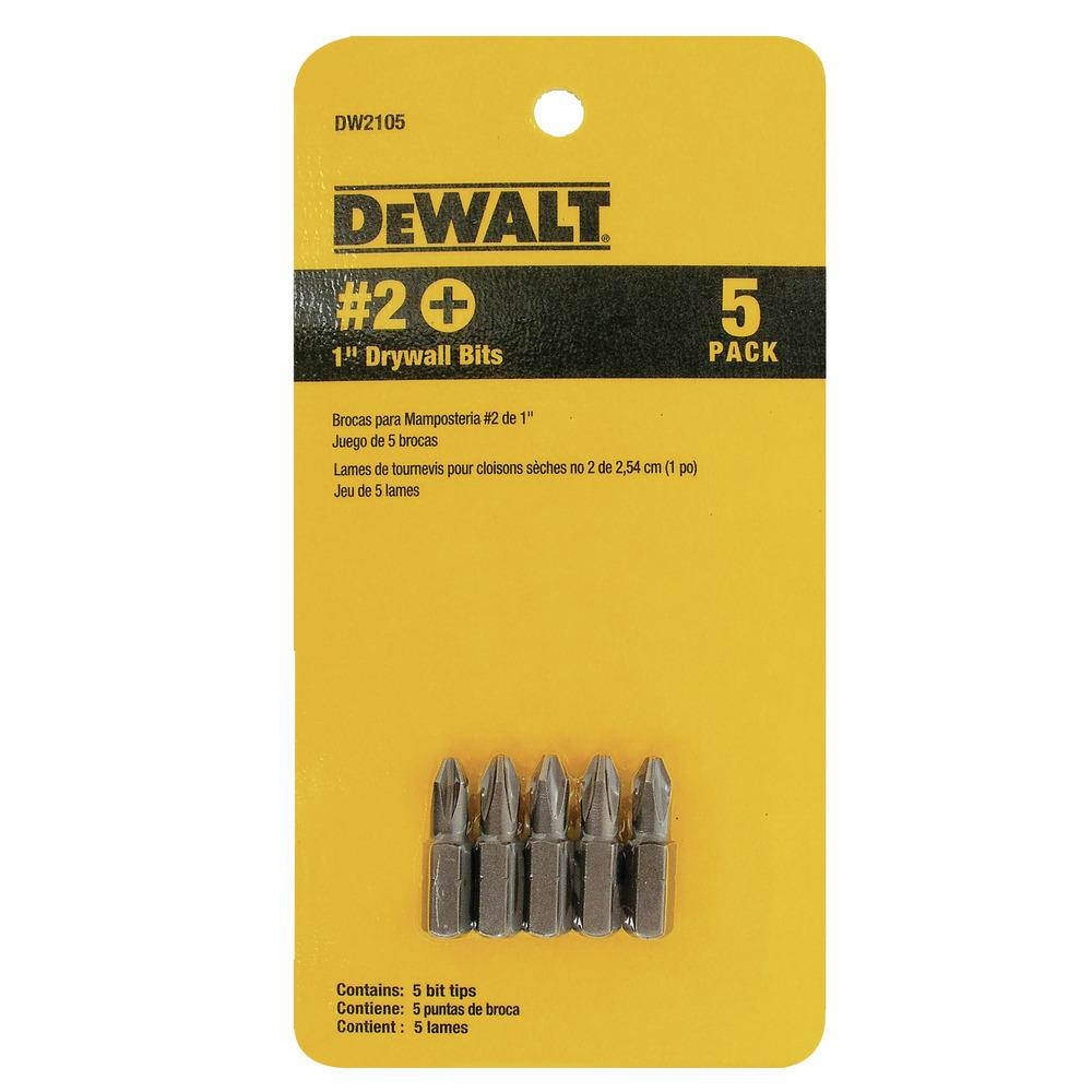 """5 Pontas 1"""" Philips #2 Drywall - Cartela Com 5 Unidades DW2105  Z Image"""