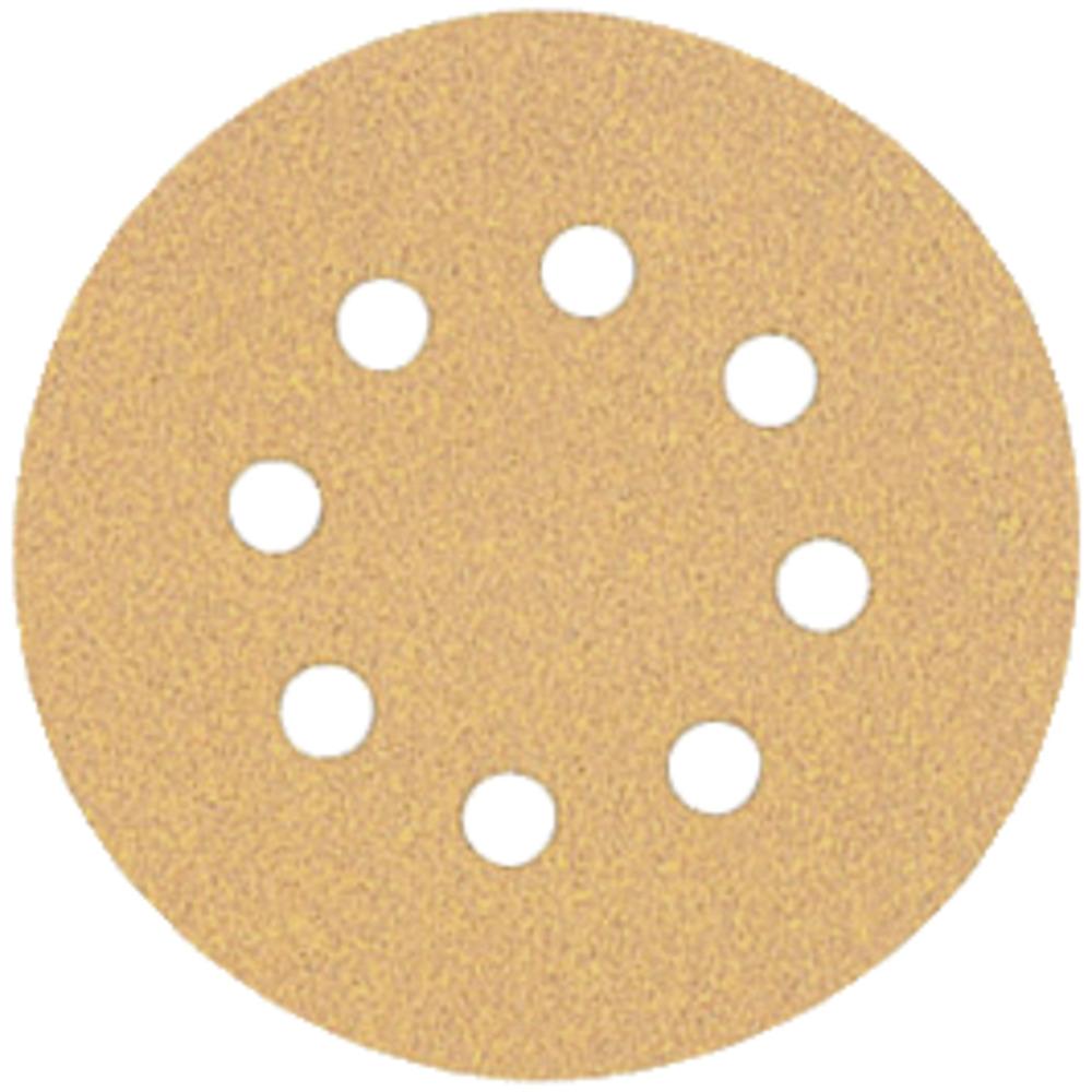 """5 Discos Lixa 5"""" Grão 80 Grosso 8 Furos 394089ed-b058-4861-a5aa-a89800eebbd3 Image"""