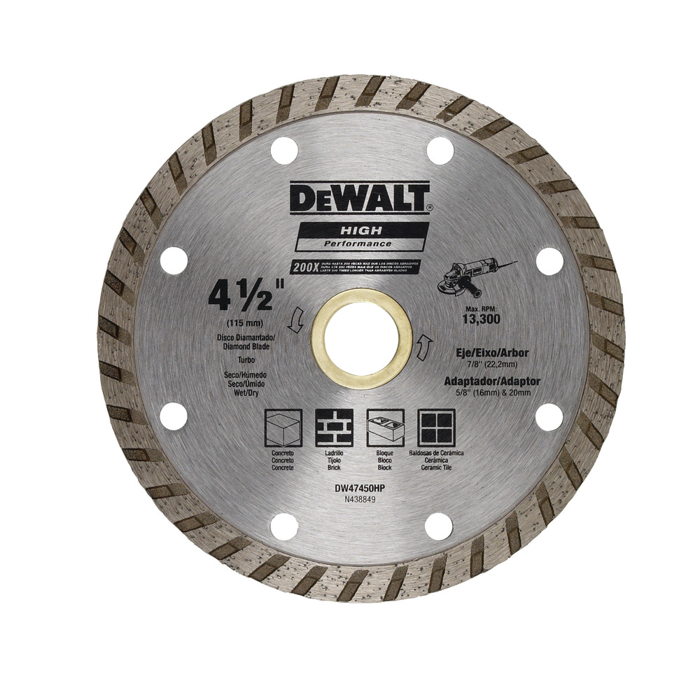 Diamond Blade Turbo 4 1 2 Quot 115mm Dewalt