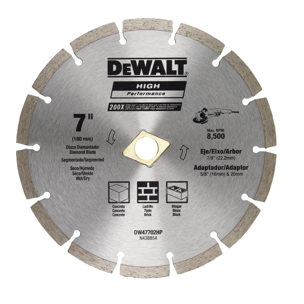Diamond Blade Segmented 7 Quot 180mm Dewalt