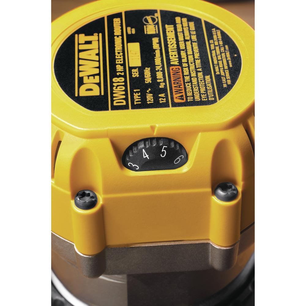 Rebajadora - fresadora de velocidad electrónica variable de base fija DW618 Image