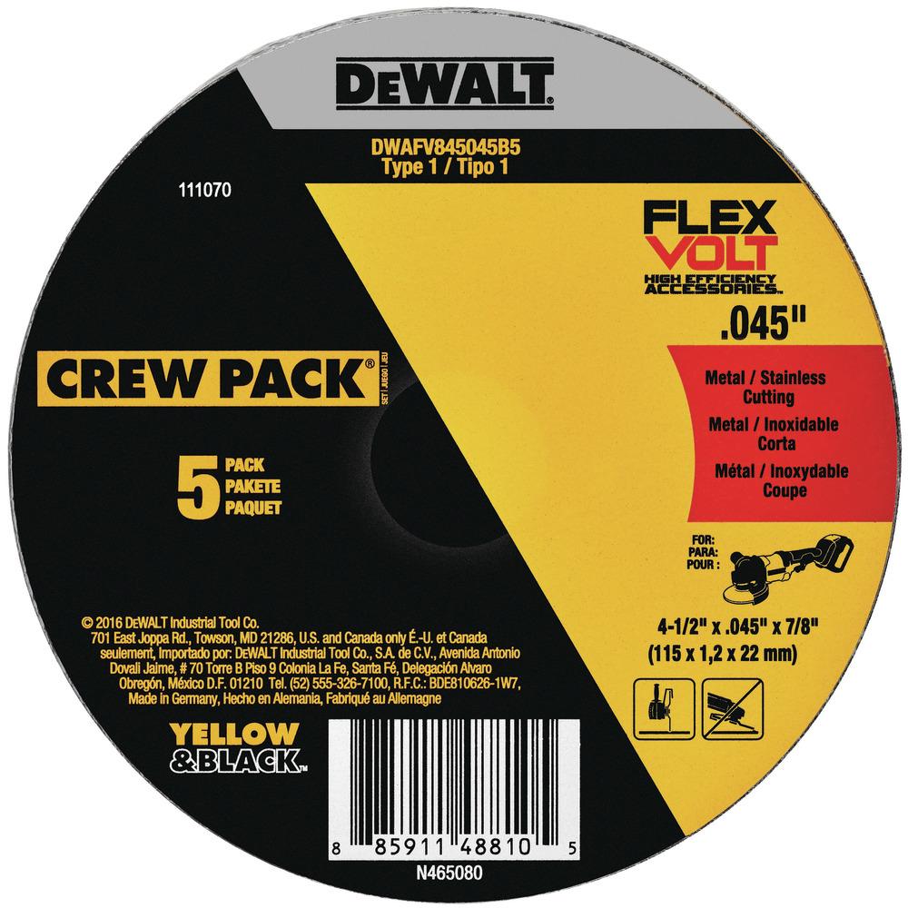 Disco de corte FlexVolt de metal e1bbc8d7-2a07-4229-afaf-a89701054f67 Image