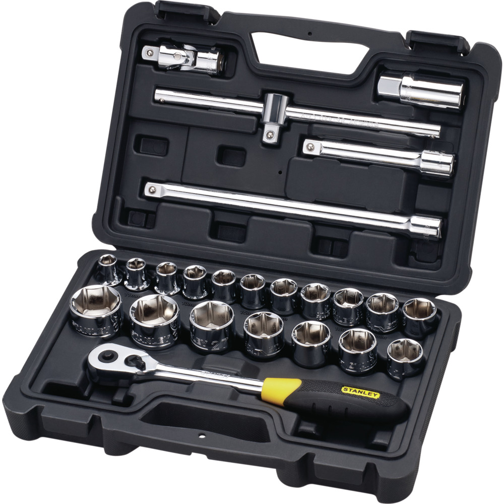 "43pc Metric Socket Set 1//4/"" Drive 10 Sockets 28 Bits /& Extensions"