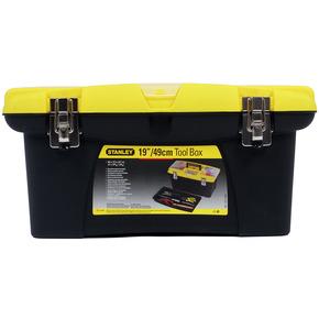 """Product Image of Ящик для інструменту """"Jumbo"""" пластмасовий з 2-ма знімними органайзерами в кришці, відсіком для викруткових вставок і металевими замками 1-92-905, 906, 908"""