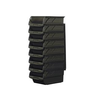 Product Image of Набір з 8-ми чорних пластмасових лотків №3 і 3-х пластмасових власників (57208) 1-94-468
