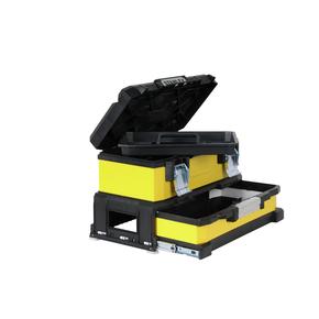 """Product Image of Ящик для инструмента профессиональный двухсекционный металлопластмассовый желтый 20"""" 1-95-829"""