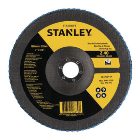 "Product Image of Flap DISC 7 ""recordar 7/8"" (180 recordar 22,23 mm) GRANO 40"